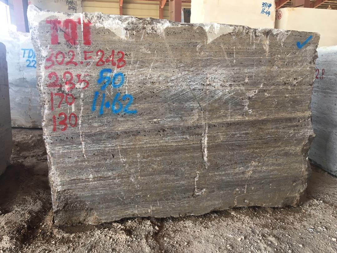 Travertine Titanium Block